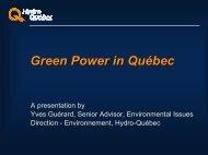 Green Power in Quebec - Pollution Probe