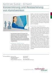 Nationale Suisse – Schweiz Konservierung und Restaurierung von ...