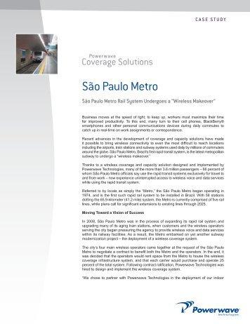 São Paulo Metro Rail System Undergoes a - Powerwave ...