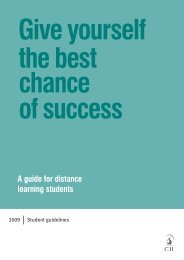 A guide for distance learning students - The Chartered Insurance ...