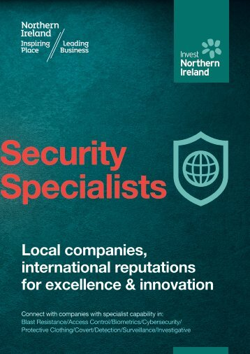 Security Specialists Brochure (PDF) - Invest Northern Ireland