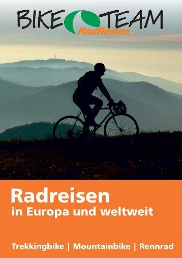 Radreisen in Europa und weltweit 2015