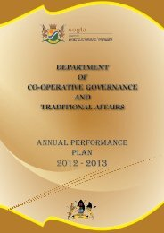 Annual Perfomance Plan 2012-13 - Co-operative Governance and ...