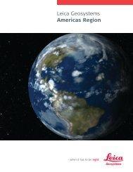 Americas Region Brochure (PDF, 976 KB) - Leica Geosystems