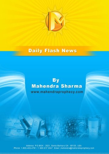 Wednesday's Flash news - Prophesies of Mahendra Sharma