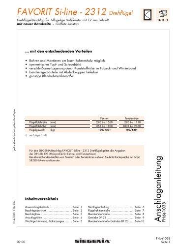 FAVORIT Si-line - 2312 Drehflügel