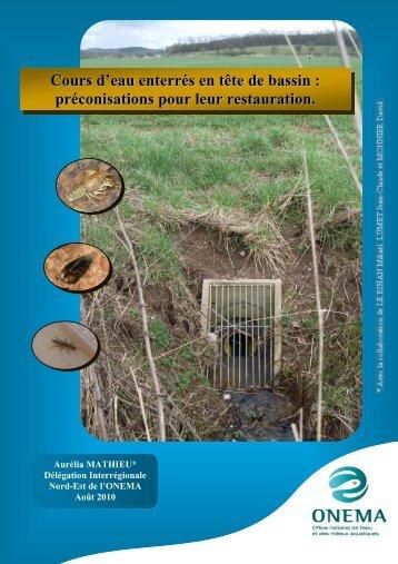 Cours d'eau enterrés en tête de bassin - Agence de l'Eau Rhin-Meuse