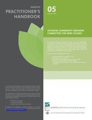 Utilizing Community Advisory Committees for NEPA Studies