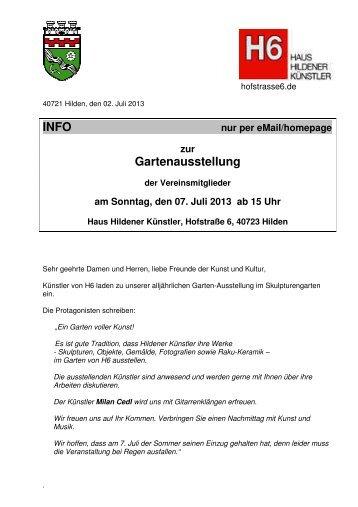 H6-Info - Haus Hildener Künstler