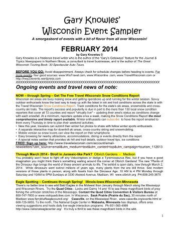 February 2014 Wisconsin Events Sampler
