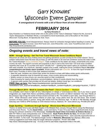 February 2014 Wisconsin Events Sampler