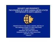 security and prosperity the dynamics of a new canada-united states ...