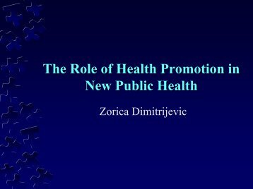 Basic principles of New Public Health
