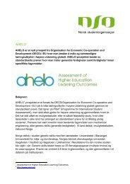 AHELO er et nytt prosjekt fra Organisation for Economic Co ...