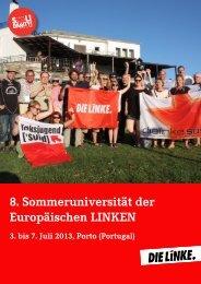 8. Sommeruniversität der Europäischen LINKEN - DIE LINKE. Berlin