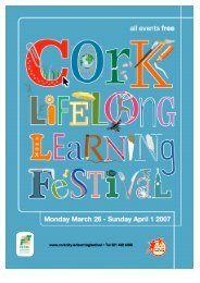 2007 Lifelong Learning Festival Programme ... - Cork City Council