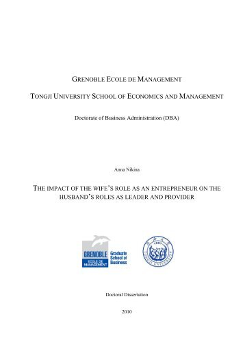 dba financial management thesis