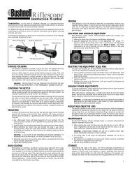 Riflescope Instruction Manual - Bushnell