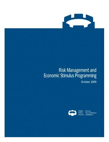 Risk Management and Economic Stimulus Programming - Public Policy ...