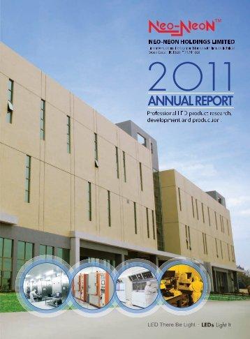 Annual Report 2011 年 報 - Neo-Neon LED Lighting International Ltd