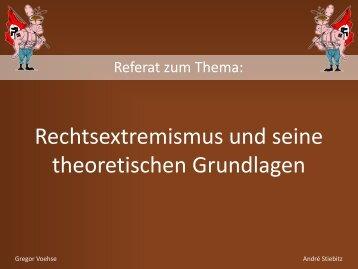 """""""Rechtsextremismus und seine theoretischen Grundlagen"""" (PDF)"""