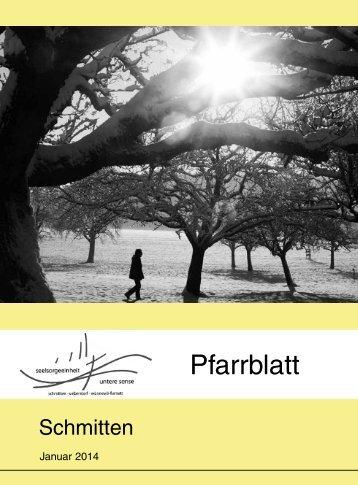 Pfarrblatt Nr. 01 - Pfarrei Schmitten