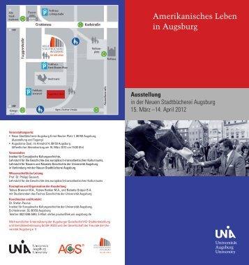 Amerikanisches Leben in Augsburg - Universität Augsburg