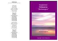 """Sangtekster Firkløverne """"Ørehængere"""" - Skolen på la Cours Vej"""