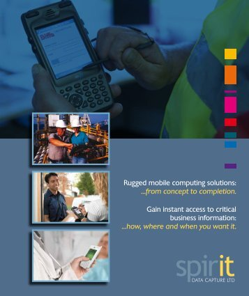Gain instant access to critical business information - Spirit Data ...