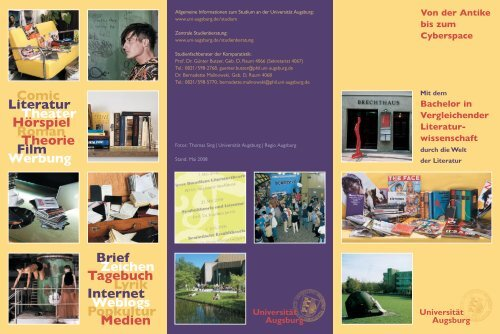 Bachelor in Vergleichender Literatur - Universität Augsburg