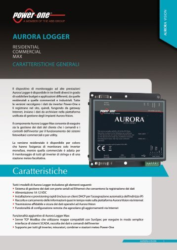 AurorA LoGGEr - Power-One