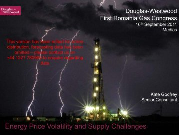 Energy Price Volatility and Supply Challenges - Douglas-Westwood