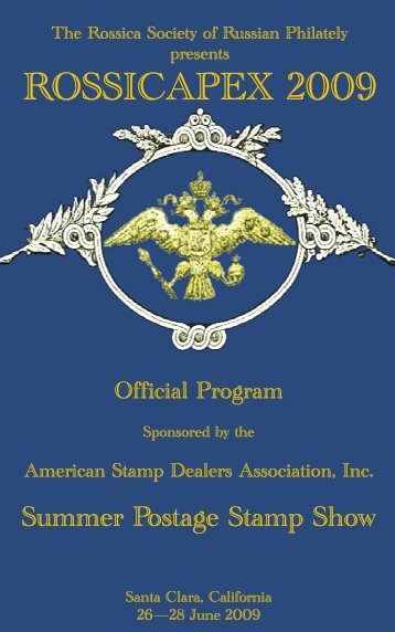 Rossicapex 2009 Show Program.pdf - The Rossica Society of ...