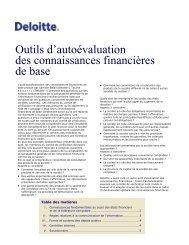 Autoévaluation des connaissances financières de base - Deloitte ...