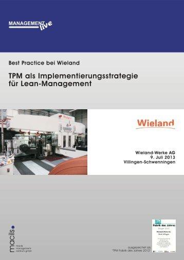 TPM als Implementierungsstrategie für Lean-Management - macils ...