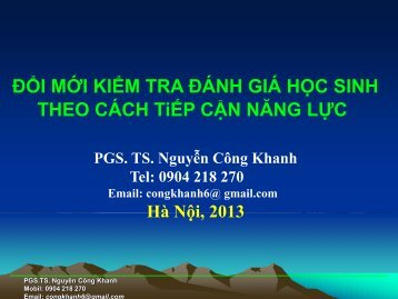 PGS.TS Nguyễn Công Khanh - VVOB