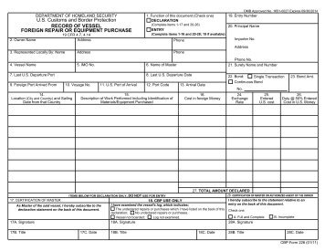 CBP Form 1400 - Forms