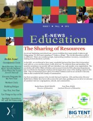 The Sharing of Resources - The Jewish Outreach Institute