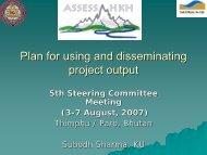 Overview of the program - ASSESS-HKH