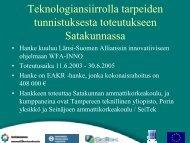 Satakunta - Porin yksikkö - Tampereen teknillinen yliopisto