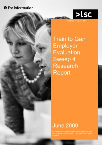 Train to Gain Employer Evaluation - lsc.gov.uk - Learning and Skills ...