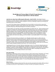Broadridge and Convey Align to Provide Comprehensive Tax ...