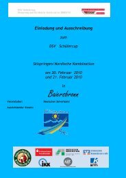 Einladung und Ausschreibung - SV Baiersbronn :: Ski