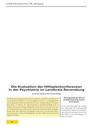 Die Evaluation der Hilfeplankonferenzen in der Psychiatrie im ...