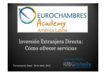 O.14 Inversion extranjera directa - Eurochambres Academy