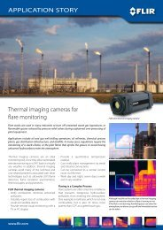 Thermal imaging cameras for flare monitoring