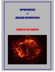 opportunities nuclear astrophysics - National Superconducting ...