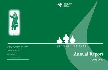 Annual Report - Woodrow Wilson International Center for Scholars