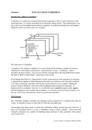1 Module 5 ECDL DATABASE WORKSHEET Introduction - What is a ...