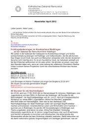 Katholisches Dekanat Rems-Murr Newsletter April 2012